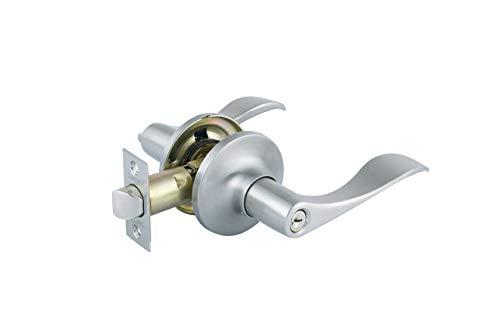 ntry Lever Door Lock in Satin Nickel ()