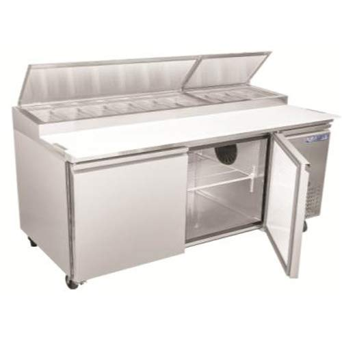 "Kratos Refrigeration 69K-763 71""W Pizza Prep Table, 9 Pan Capacity"