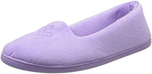 Dearfoams Womens Rebecca Home House Slippers Ladies Ballet Ballerina Flat Shoes