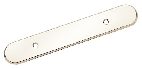 Amerock BP7624726 Backplates 3 in (76 mm) Center-to-Center Polished Chrome Cabinet Backplate