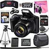 (Canon Powershot SX420 IS 20 MP Wi-Fi Digital Camera with 42x Zoom (Black) Includes: Canon NB-11LH Battery & Canon Charger + 9pc 32GB Deluxe Accessory Kit w/Camera Works Cloth & Cleaning Solution)