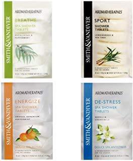Aromatherapaes Spa Shower Tablets Bundle | Energize, De-Stress, Breathe & Sport | 6 Tablets of Each (Eucalyptus Steamer)