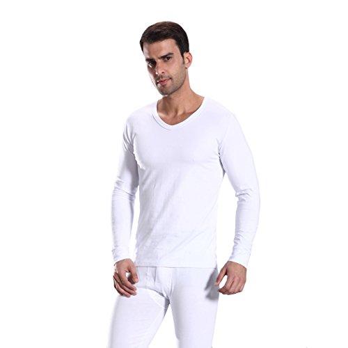 HOTER Men Cotton V-Neck Thermal Underwear Long Sleeve Vest Idea by HÖTER