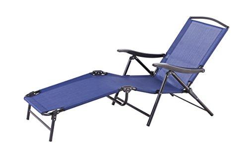 Multi Position Chaise Lounger - Backyard Classics Naples Multi-Position Folding Chaise Lounge