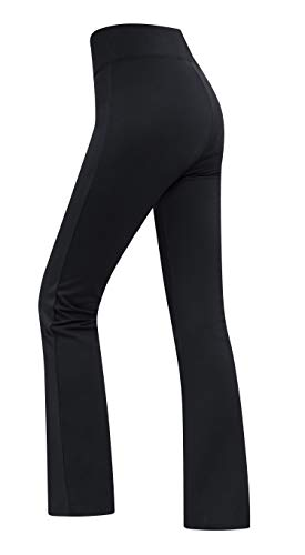 (SPECIALMAGIC Women's Yoga Bootcut Pants Stretch Dry Fit Wide High Waistband Bootleg Pants 28