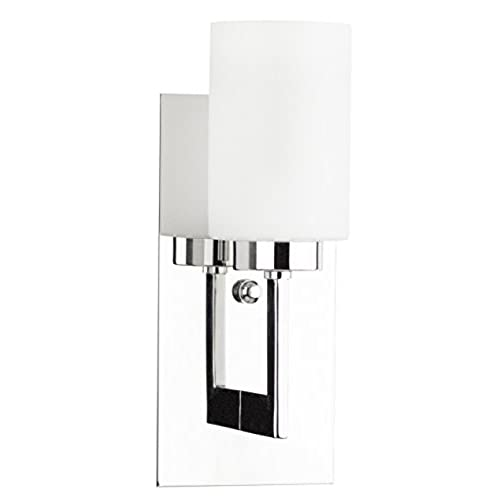 Bathroom sconces chrome amazon brio wall light vanity sconce polished chrome with frosted glass shade one light bathroom fixture wall mount lighting 13 inch high linea di liara audiocablefo