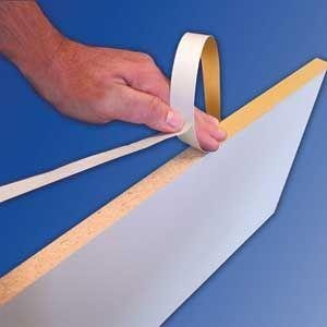Edge Fastedge - Fastcap Fastedge Peel & Stick Edge Tape 250' Roll White by Fastcap