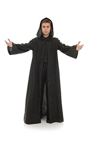 Underwraps Big Boy's Children's Cloak Costume Accessory, Black, Medium Childrens Costume, Black, Medium]()