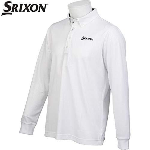 ダンロップ スリクソン DUNLOP SRIXON ゴルフ メンズ 長袖ボタンダウンシャツ SRM1067F WHT ホワイト サイズ LL