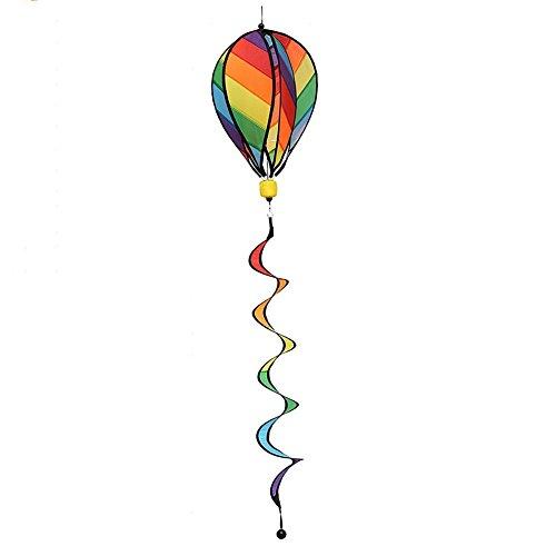 Ladaidra Wind Spinner, Fire Balloon 3D Stripe Colorful Hanging Decor for House Farm Yard