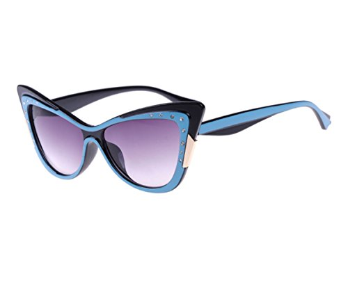 Konalla Fashion Cat Eye Bicolor Full Frame Women's Sunglasses - Frames Outfitters Glasses Urban