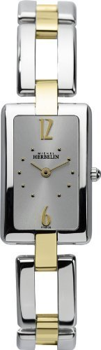Michel Herbelin Women's Quartz Watch with Silver Dial Analogue Display and Multicolour Stainless Steel Bracelet 17466/BT12