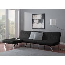 Emily Futon with Chaise Lounger super bonus set BLACK