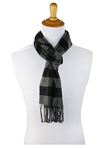 Men's Scarves Hot Sale Classic Arrival Winter Plaid Scarf Tassel Edge Soft Warm Scarf