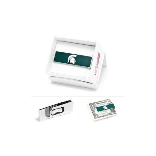 Michigan State Spartans Card Box - NCAA Mens Plated Michigan State Spartans Money Clip