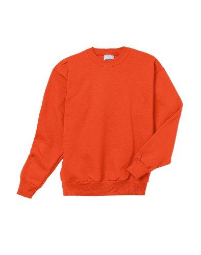 Hanes Youth 7.8 oz. ComfortBlend EcoSmart 50/50 Fleece Crew, XS, Orange (Best Cyber Weekend Deals)