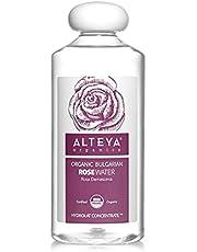Alteya Organic Rozenwater Bio 500 ml - 100% USDA biologisch gecertificeerd puur authentiek natuurlijk 'Rosa Damascena' bloesemwater, stoom gedistilleerd en rechtstreeks vervaardigd en verkocht door de rozenkweker Alteya Organics.