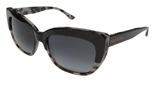 Isaac Mizrahi 30234 Womens/Ladies Cat Eye Full-rim Gradient Lenses Sunglasses/Eyewear (55-17-135, Black / Cream - Cream Cat Eye Sunglasses