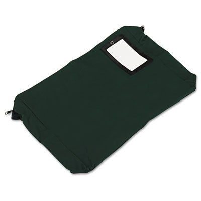 Expandable Dark Green Transit Sack, 18w x 4d x 14h, Sold as 1 Each
