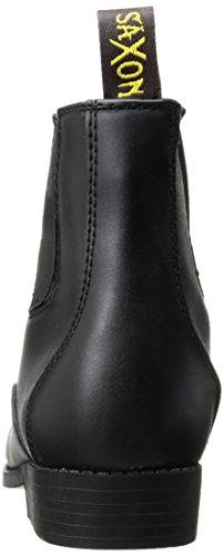 Saxon Equileather con cremallera frontal de la mujer Botas, Negro, tamaño 5,5 Negro