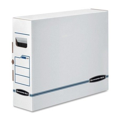 Bankers Box X-ray (Bankers Box Products - Bankers Box - X-Ray Storage Box, Film Jacket Size, 5 x 14-7/8 x 18-3/4, White/Blue, 6/Carton - Sold As 1 Carton - Shields sensitive x-ray film from dust and dirt. - Supports the weight of standard 14amp;quot; x 17 amp;frac12;amp;quot; film jackets. - Secure tab lock closure prevents film jackets from sliding out.)