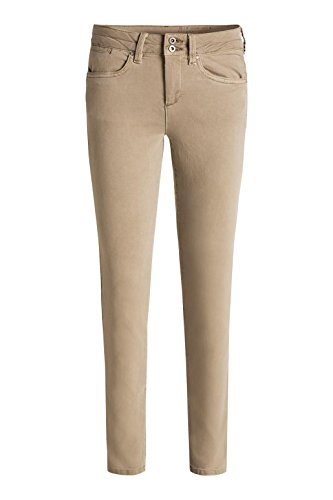 edc by Esprit 5-pocket - Pantalones Mujer Beige (BEIGE 270)