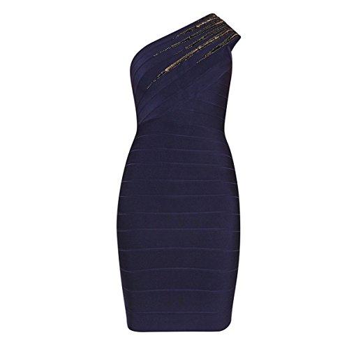 HLBCBG Kleid Blau Rot 36 Rot Damen 66n1FrY