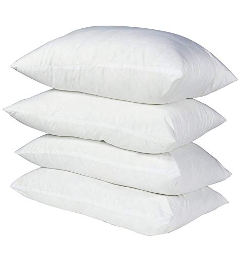 Emolli Luxury Hotel Collection Bed Pillows Super Soft Down Alternative Microfiber Alternative Sleeping Pillow 100% Cotton Cover Soft Comfortable Hypoallergenic Dust-Mite Resistant, 4 Pack 18 x 26