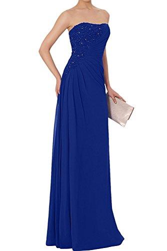 Elegant Braut La Abendkleider Blau Royal Spitze Marie Lang Partykleider Etuikleider Brautmutterkleider Chiffon 545wEgr