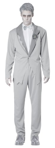 [California Costumes Men's Ghostly Groom Adult, Grey, X-Large] (Adult Ghost Groom Costumes)