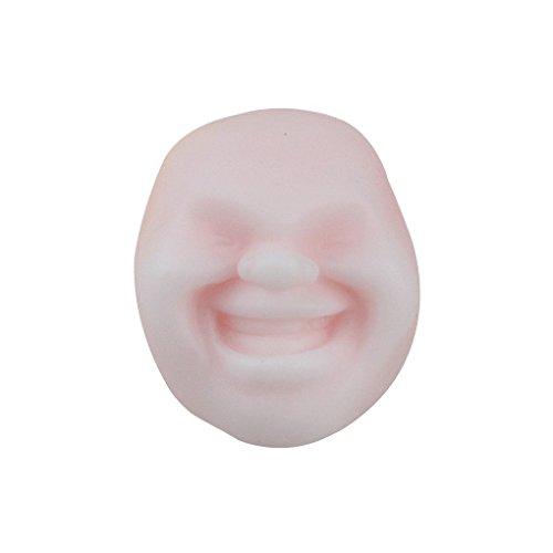 Harmily Anti Stress Face Reliever Grape Ball Relax Doll Relief Toys Fun Prank Geek Gadget Random Expression