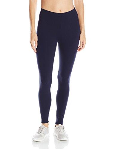 Danskin Women's Classic Supplex Body Fit Ankle Legging, Midnight Navy, Large - Danskin Nylon Leggings