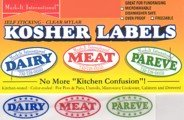 Dairy meat and parve kosher labels color for Keeping a kosher kitchen