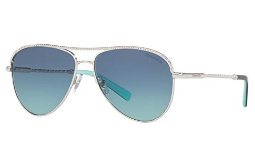 Tiffany & Co. TF 3062 Aviator Sunglasses for Women New 2019 Collection ()