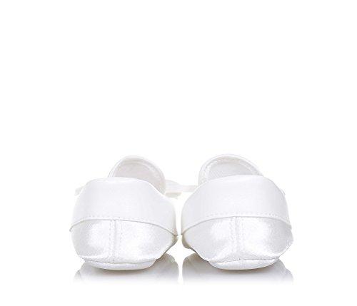 BABY VIP - Weißer Mokassin für die Wiege aus Stoff, äußerst bequem und flexibel, er erlaubt die maximale Freiheit, Baby Mädchen