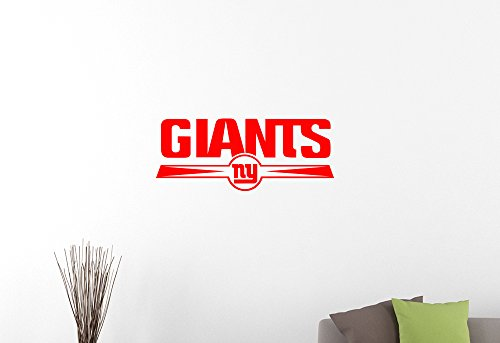 NFL New York Giants Emblem Vinyl Decal American Football Team Logo Wall Sticker Home Interior Decorations Extreme Sports Sign Art Locker Room Bedroom Office Decor 3nyg (40