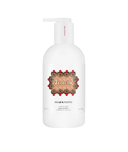 Claus Porto Favorito Liquid Soap, Red Poppy, 10.14 fl. oz.