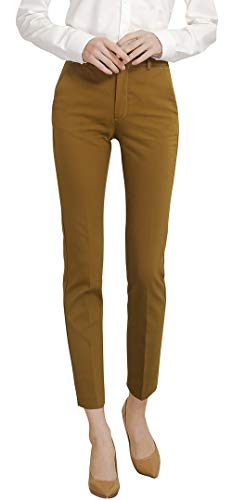 - Marycrafts Women's Work Ankle Dress Pants Trousers Slacks (Medium(New), Tapenade)