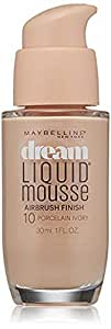 Maybelline New York Dream Liquid Mousse Foundation 10 Porcelain Ivory 30ml