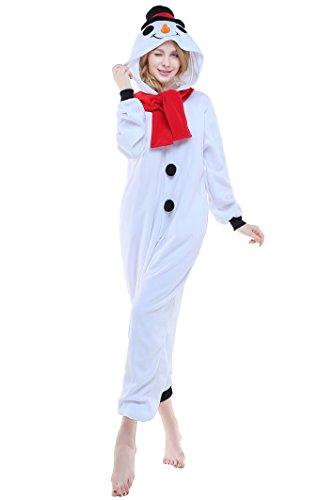 Halloween Lounge Homewear Anime Pyjamas Adult Unisex Onesie Cosplay Costume (S, Snowman)