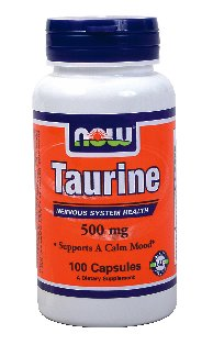 Now Foods Taurine 500 mg, 100 gélules (Pack de 2)