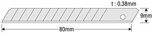 GedoTec Profesional Cuchillas de segmentos 9 mm repuesto para Cuter KDS Negro La Energ/ía Evolution SB-10B EVO Hoja desarrollado m/áximo N/ítidas HECHO EN JAP/ÓN Calidad marca su Sala estar 10 Piezas