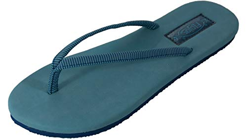 Flojos Women's Fiesta Blue/Stripe 6 B US B (M)
