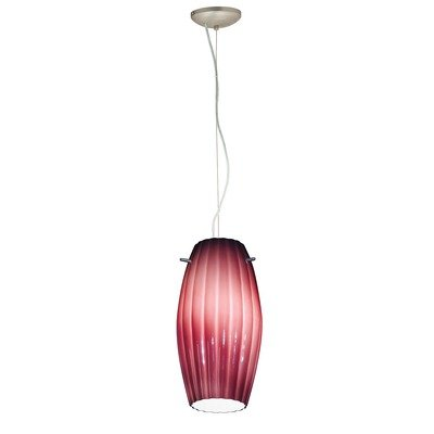 Access Lighting 28076-BS/PLM Fleur Hanging Mini Pendant, Brushed