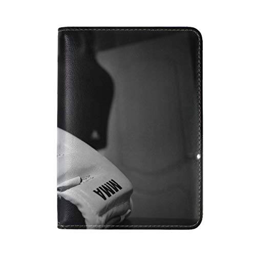 Mixed Martial Arts Mma Wrestling Leather Passport Holder Cover Case Travel One Pocket by ANT88