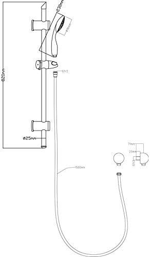 Grifo mezclador termostático para bañera y columna de ducha ...