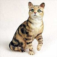 Cat Figurine - Brown Tabby (Shorthaired)
