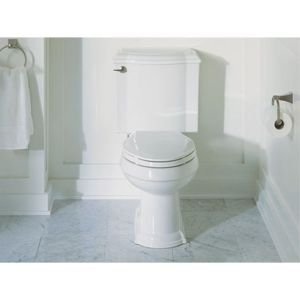 K-3837-0 Comfort Height Two-Piece Elongated 1.28 gpf Toilet, White