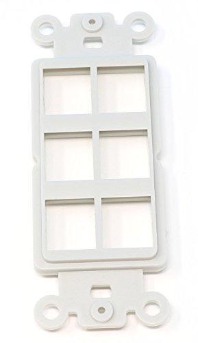 Module Modular Insert (RiteAV - 6 Port Insert for Decorative Wall Plate White)