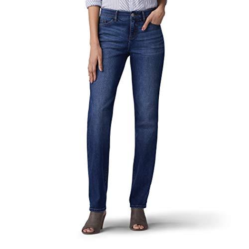 (LEE Women's Flex Motion Regular Fit Straight Leg Jean, Royal Chakra, 6)